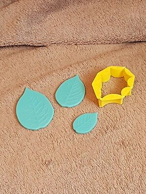 leaf silicone press mould, and holly leaf cookie/icing cutter
