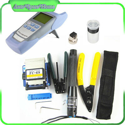 Latest Fiber Optic FTTH Tool Kit Set Power Meter FC-6S Optical Cleaver Finder
