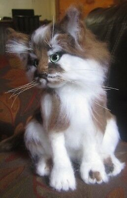Needle Felted life size  Kitten Cat OOAK By Artist Ronda Koskela