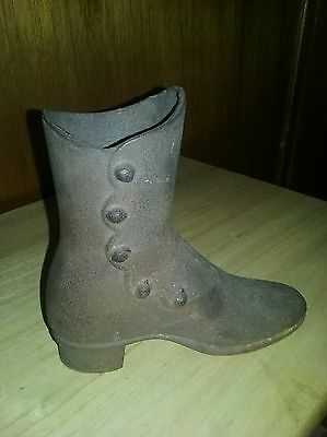 Antique Cast Iron Mannequin Button Down Victorian Shoe Boot