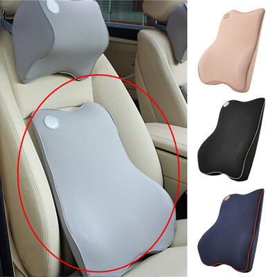 Car Seat Back Support Cushion Memory Foam Breathable Chair Lumbar Waist Pillow