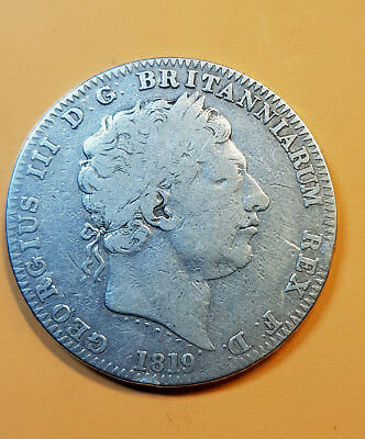 """COLLECTABLE1819""""LIX"""" British Silver One  Crown Coin  - George III."""