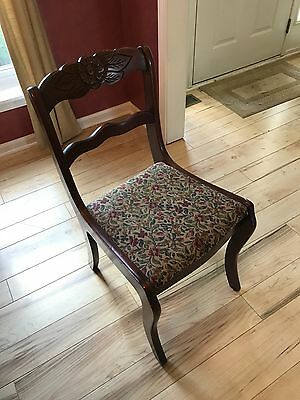 TELL CITY Mahogany Rose Back Duncan Phyfe Chair 4526 w/ original label vintage