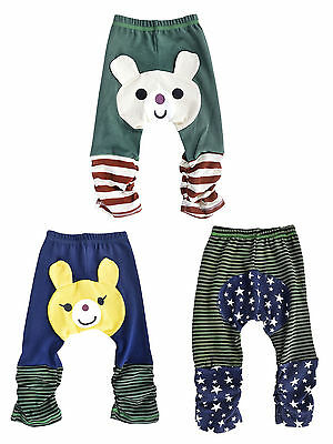 3 pcs winter baby toddler Boys Girls kids PP pants leggings Funky Bottoms Pants