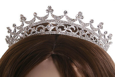 Sparkling Headband Crystal Crown  Pageant Prom Wedding Tiara Party