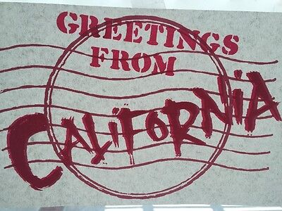 Vintage 80's Greetings From California Iron On Transfer