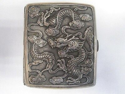 1850's Chinese Export Sterling Dragon Cigarette Box