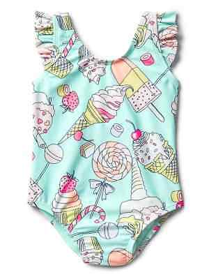 Baby Gap Girl's Spr.'18 Sweets Flutter One Piece Swim Suit NEW 2T 2 Years