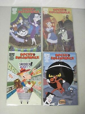 Complete Set Of Rocky & Bullwinkle #1-4 Idw Comics Limited Series