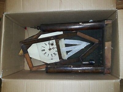 ANTIQUE AMERICAN  MANTEL CLOCK.Spares or repair.