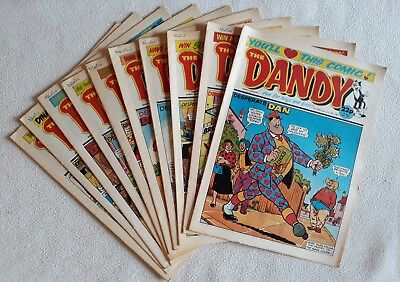10 1989 Issues of The Dandy ALL VF UK Comic