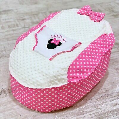 Personalised Girls Applique Minnie Mouse Baby Bean Bag (NEXT DAY DISPATCH)