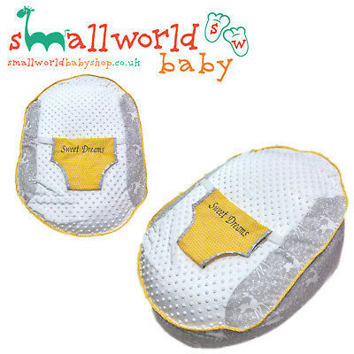 Personalised Boys Girls Grey Bambi And Mustard Pre Filled Baby Bean Bag