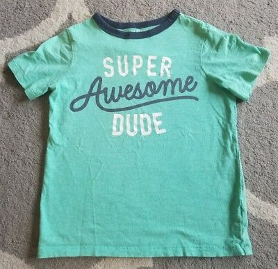 Boys Carters shirt 8 spring summer top Super Awesome Dude GUC