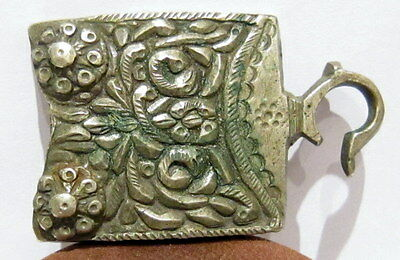 Beautiful Medieval Or Post Medieval Silver Belt Buckle With Nice Patina # 209