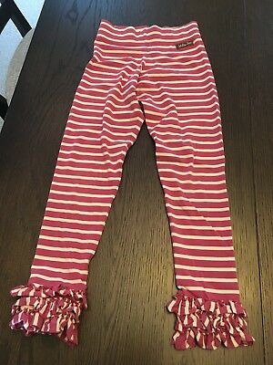 Matilda Jane Girls, Mixed Berry Leggings, Secret Fields, Size 10, EUC