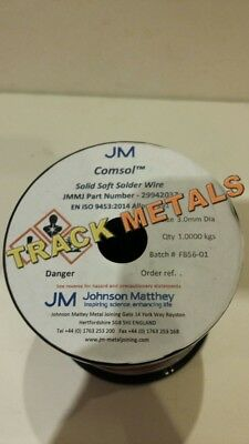 "Comsol solder  3 mm dia solid wire x 12"" long"