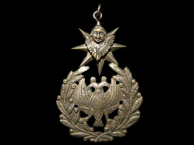 VERY RARE LARGE ANTIQUE 1900s. UNIDENTIFIED MILITARY INSIGNIA!!!