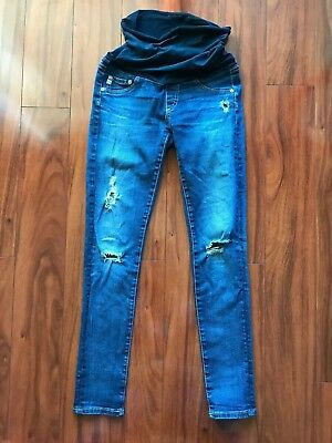 AG Adriano Goldschmied Maternity Distressed Skinny Jeans Size 26