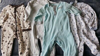 Lot of 4 pairs of baby boy pajamas, size 3-6 months clothing