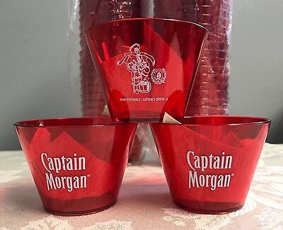 Lot of 45+ NEW Captain Morgan Captain's Red Plastic Cups Rocks Cups
