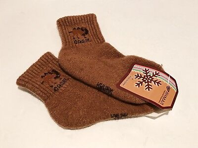 Kids Camel Wool Blend Socks Warm Brown For 6-7 years old NWT Made In Mongolia