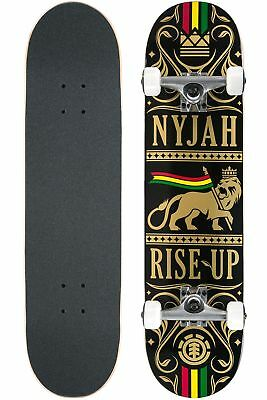 """Element Skateboard Complete Nyjah Rise Up Lion 8"""" Pre-Assembled FREE POST"""