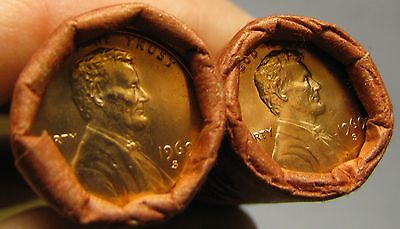 2 Rolls Of 1969 S Obw Lincoln Memorial Cents From Penny Collection