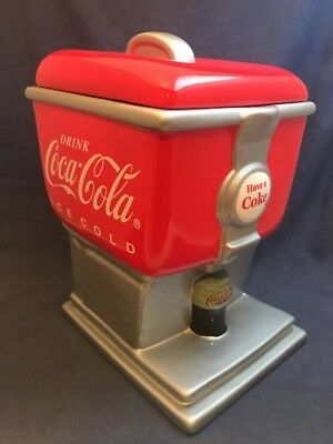 Large Coca Cola Cookie Jar Canister Soda Fountain Pop Dispenser 2003 GIBSON Red