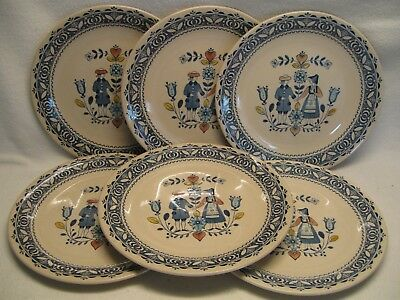 """Johnson Brothers Hearts & Flowers Old Granite (6) 10"""" Dinner Plates VGUC"""