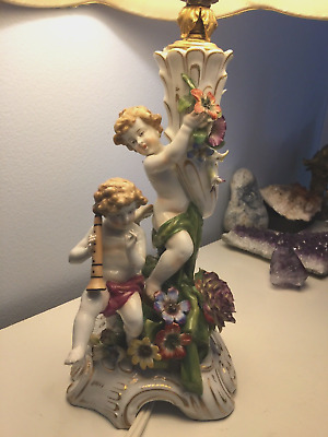 Rare Von Schierholz Antique Lamp Angels Circa 1800s