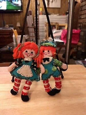 Vintage Raggey Ann and Andy ornaments