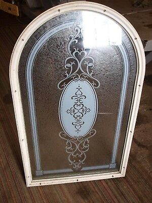 Good Used Etched Frosted Arched Door Window Glass with Trim