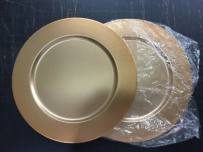 """AsiaCraft™ Metal copper coloured 14"""" Charger Plate (2 Pieces) AU STOCK"""