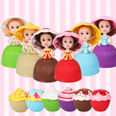 1pc Surprise Cupcake Princess Doll Toy Transformed Scented Cake Girls Present