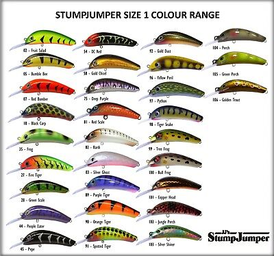 Stump Jumper Fresh Water Fishing Lures Size 1 Brand New In Box