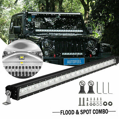 42INCH 3360W Tri-Row LED Work Light Bar Driving 4WD Spot Flood + Free Wiring Kit
