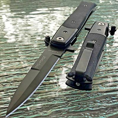 "2 x 8.5"" TAC FORCE STILETTO SPRING ASSISTED TACTICAL KNIFE G-10 HANDLE Pocket"