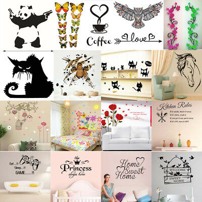 Quotes Wall Stickers Family Kids DIY Removable Vinyl Decal Mural Home Decor Lot