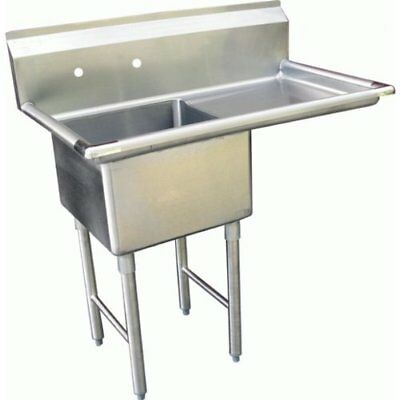"""ACE 1 Compartment Stainless Steel Sink with Right Drainboard, 18 by 18"""""""