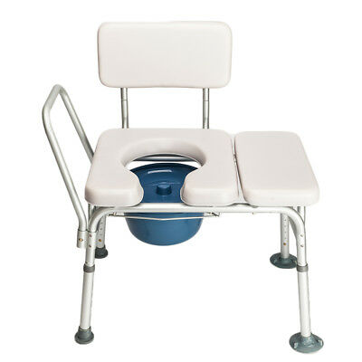 New Adjustable Commode Chair Medical Bedside Bathroom Padded Toilet Seat Safety