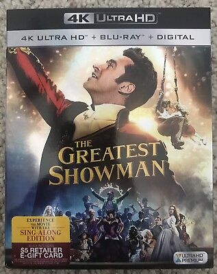 The Greatest Showman 4K Ultra Hd + Blu Ray 2 Disc Set With Slipcover Sleeve