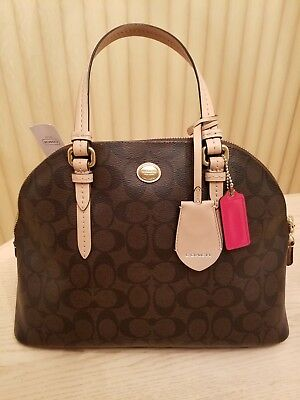 Coach Peyton Signature Cora Domed Satchel C1457-F26184 NWT