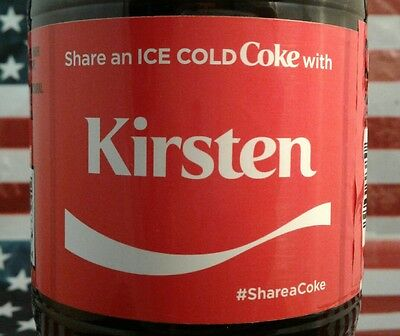 Share A Coke With Kirsten Limited Edition Coca Cola Bottle 2017 USA