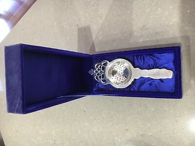 Silver Tea Strainers in Gift Box