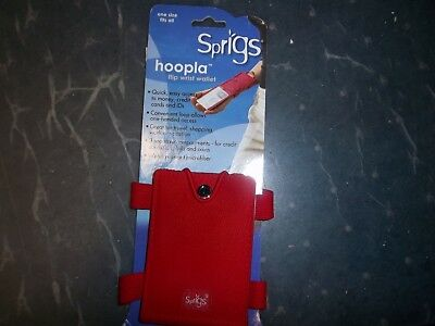 SPRIGS HOOPLA FLIP WRIST WALLET Red New