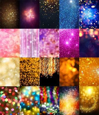 Glitter Abstract Bokeh Backdrop Vinyl Photo Studio Props Photography Background