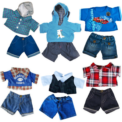 "HOODIE & SHIRT with JEANS - 16""/40cm TEDDY BEAR CLOTHES & BUILD YOUR OWN BEAR"