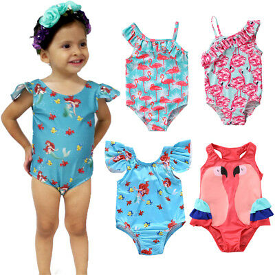 AU Kids Baby Girls Flamingo Bikini Set Swimwear Swimsuit Bathing Suit Beachwear