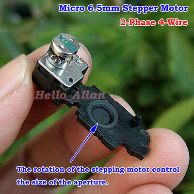 2PCS Mini 6.5mm Stepper Motor 2-Phase 4-Wire Adjust Digital Camera Aperture Hole